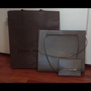 Louis Vuitton Classic Epi Leather Tote and Wallet